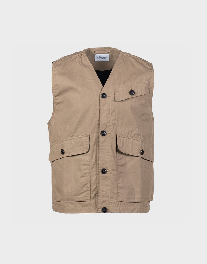 Albam Flight Vest - Taupe - The 5th