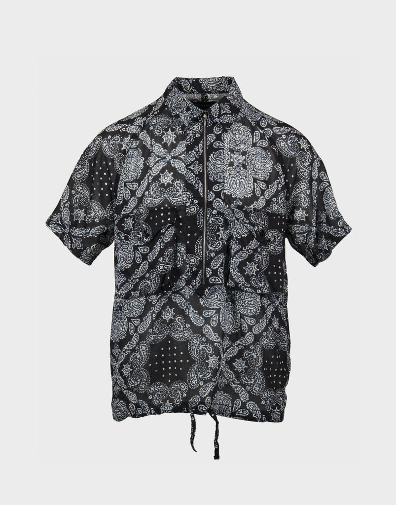 Eastlogue Scout Pullover Half Zip Shirt - Black Paisley - The 5th