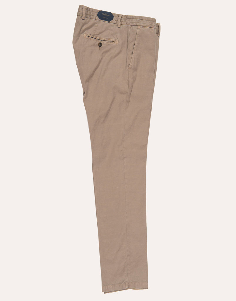 Four Ten Industry T9102 Cotton Linen Blend Trouser - Beige