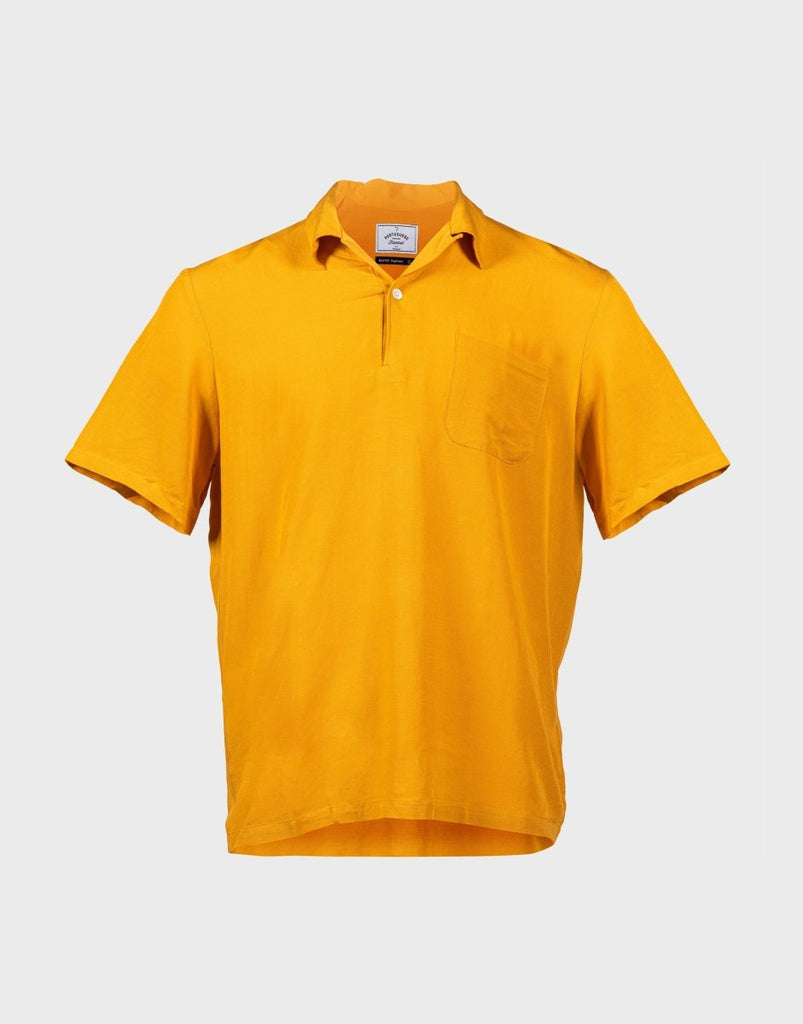 Portuguese Flannel SS Polo - Yolk Yellow - The 5th