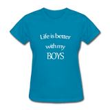 Life Is Better With My Boys - turquoise