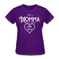 Just A Momma And Her Little Loves (White Lettering) - purple