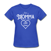 Just A Momma And Her Little Loves (White Lettering) - royal blue