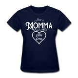 Just A Momma And Her Little Loves (White Lettering) - navy