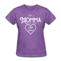 Just A Momma And Her Little Loves (White Lettering) - purple heather