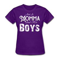 Momma And Her Boys (White) - purple