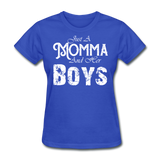 Momma And Her Boys (White) - royal blue