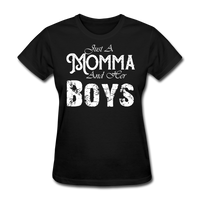 Momma And Her Boys (White) - black