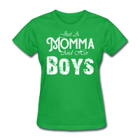 Momma And Her Boys (White) - bright green
