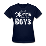 Momma And Her Boys (White) - navy