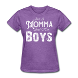 Momma And Her Boys (White) - purple heather