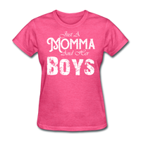 Momma And Her Boys (White) - heather pink