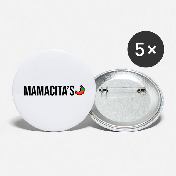 Mamacita's Buttons (Large 2.2'') (5-pack) - white