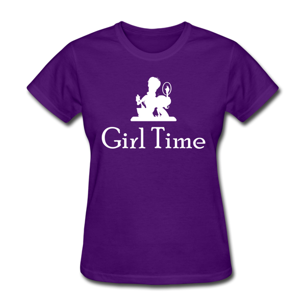 Girl Time (White) - purple
