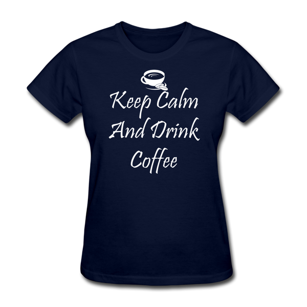 Keep Calm And Drink Coffee (White) - navy