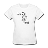 Let's Travel - white