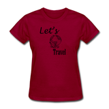 Let's Travel - dark red
