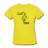 Let's Travel - yellow