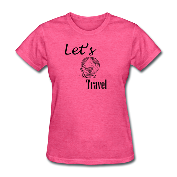 Let's Travel - heather pink
