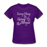 Everything Is Going To Be Alright (White) - purple