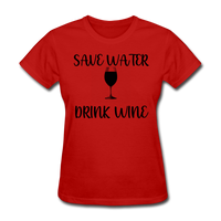 Save Water - red