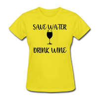 Save Water - yellow