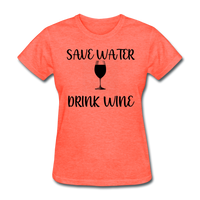 Save Water - heather coral