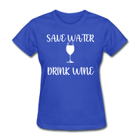 Save Water (White) - royal blue