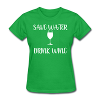 Save Water (White) - bright green