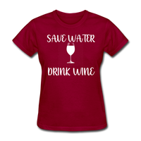 Save Water (White) - dark red