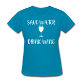 Save Water (White) - turquoise