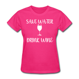 Save Water (White) - fuchsia
