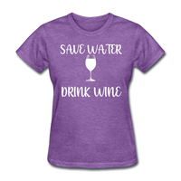 Save Water (White) - purple heather
