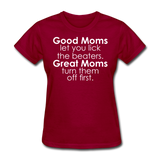 Good Moms, Great Moms - dark red