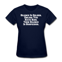 Silence Is Golden - navy