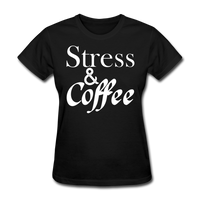 Stress & Coffee (White) - black