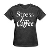 Stress & Coffee (White) - heather black
