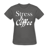 Stress & Coffee (White) - charcoal