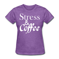 Stress & Coffee (White) - purple heather
