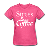 Stress & Coffee (White) - heather pink