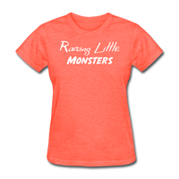 Raising Little Monsters (White) - heather coral