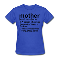 Mother Definition - royal blue