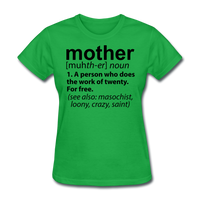 Mother Definition - bright green