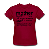 Mother Definition - dark red