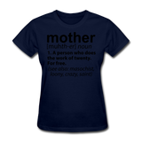 Mother Definition - navy