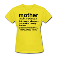 Mother Definition - yellow