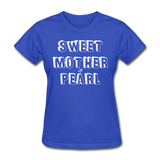 Sweet Mother Of Pearl Vintage (White) - royal blue