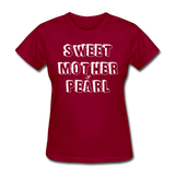 Sweet Mother Of Pearl Vintage (White) - dark red