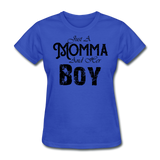 Just A Momma And Her Boy - royal blue