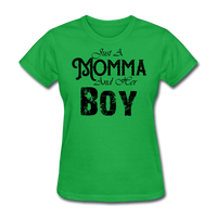 Just A Momma And Her Boy - bright green
